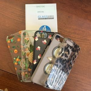 5 Assorted iPhone Cases + 4 Screen Protectors